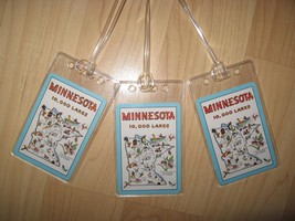Minnesota Luggage Tags - Vintage Retro USA State Map Postcard Name Tag S... - $19.78
