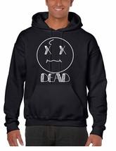 Men's Hoodie Sweatshirt Dead Face Cool Funny Humor Top - $34.99+