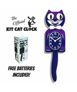 "ULTRA VIOLET KIT CAT CLOCK 15.5"" Purple Free Battery MADE IN USA Kit-Cat... - $69.99"