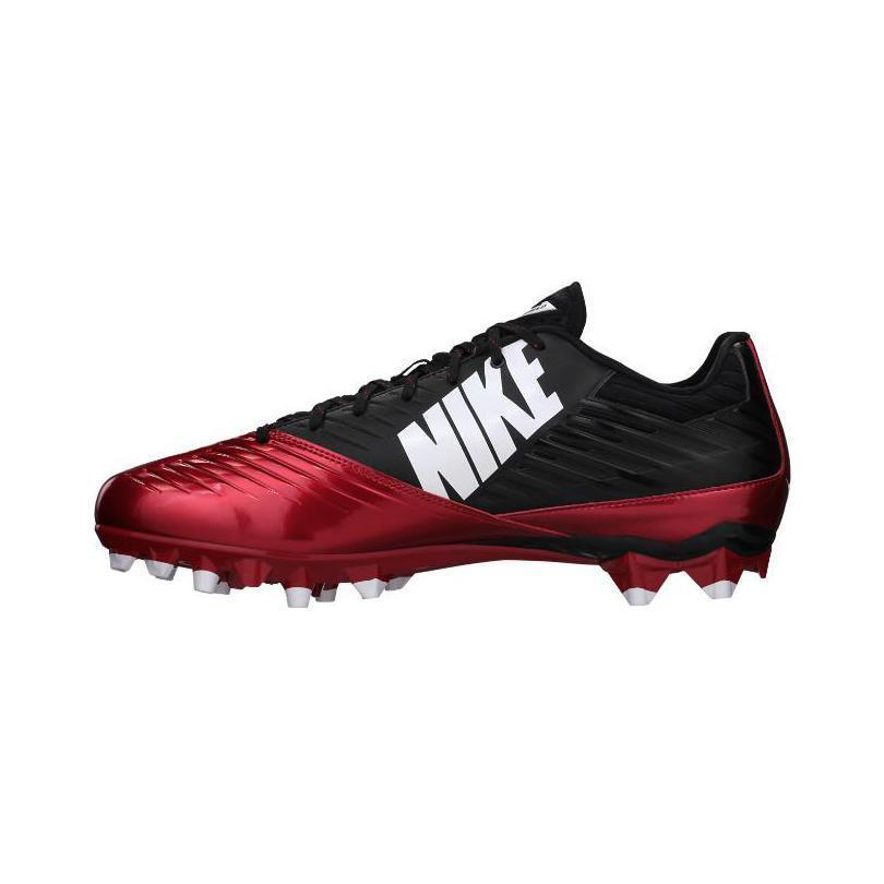 NIKE VAPOR SPEED LOW FOOTBALL CLEATS- RED AND BLACK-NEW IN BOX- RETAIL $100