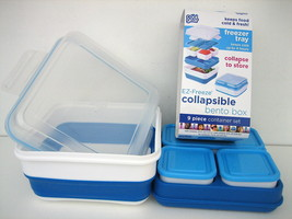 COOL GEAR EZ FREEZE COLLAPSIBLE 9 PIECE BENTO BOX FREEZER TRAY CONTAINER... - £16.30 GBP
