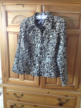 Womens Animal Print Jacket Size 8 by Ruby Rd Favorites - $36.99