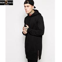 New Arrival Free Shipping Fashion Men's Long Black Hoodies Sweatshirts F... - $32.26+