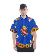 Romeo Sacred Heart Button Up Mens T Shirt XS-3XL - MADE TO ORDER - $37.99+