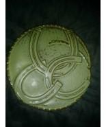 FRANKOMA Pottery Horseahoes Green TRIVET Good Luck Trivet - $24.26