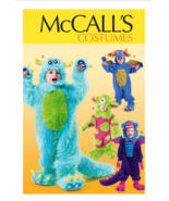 McCall's M6628 Child's Monster's Inc Dragon Costume Pattern Sz 6-7-8 - $12.00
