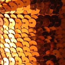 Sequin String Trim ~ Orange Metallic ~ 6mm Flat Strung By The Yard  Made In Usa - $7.98
