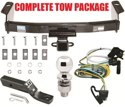 Complete Trailer Hitch Receiver Tow Package ~ Fast Shipp ~ Includes Wiring Kit - $192.35