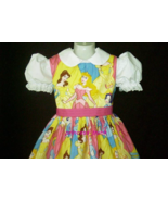 NEW Handmade Disney Packed Princesses Dress Custom Sz 12M-14Yrs - $59.98