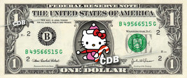 HELLO KITTY Christmas on a REAL Dollar Bill Cash Money Collectible Memor... - $6.66