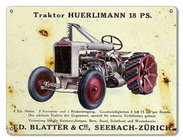 Traktor Huerlimann 18 PS Country Reproduction Metal  Sign 9×12 - $19.80