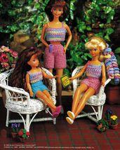"9-1/2"" Fashion Doll Play Friends Ruffled Pinafore Crop Top Short Crochet Pattern image 4"