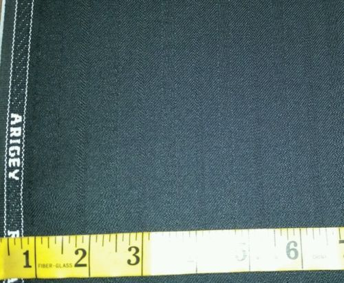 Italian Wool   Super 120'S wool Suit Fabric 6 Yards Black  MSRP $1499