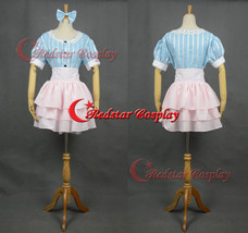 Super SONICO Cosplay Costume Party Dress with Blue & Pink Stripes Skirt  - $78.21
