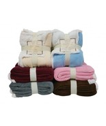 Reversible Sherpa/ Microplush Throw Blanket- 50... - $32.99