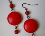 Earrings red howlite beaded  1   thumb155 crop