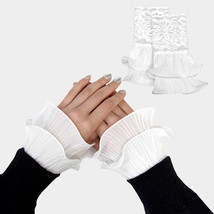 White Lace Cuff Gloves Sleeve Extenders 318307 - $164,00 MXN