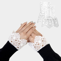 White Lace Cuff Gloves Sleeve Extenders 318305 - $176,88 MXN