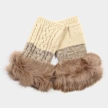 Ivory Angora Fur Fingerless Gloves 317791 - $13.25