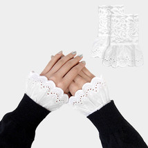 White Lace Cuff Gloves Sleeve Extenders 318304 - $159,32 MXN