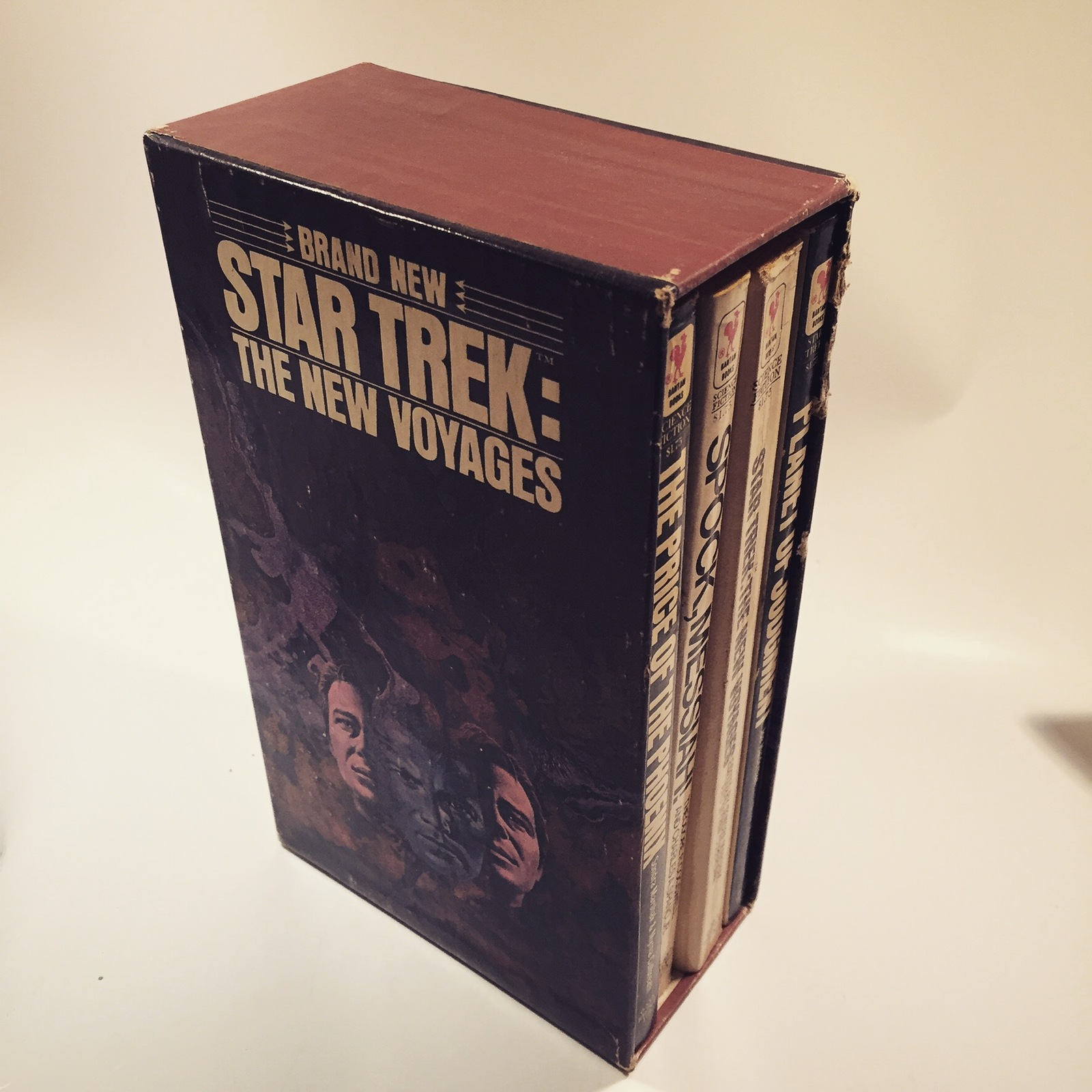 Primary image for STAR TREK 1977 COLLECTIBLE BOXED SET 4 PB BOOKS THE NEW VOYAGES Nimoy Spock