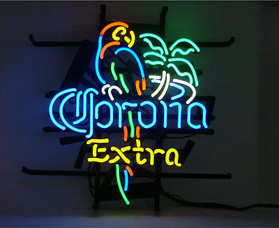 New Corona Extra Parrot Right Palm Tree Neon Sign 17``X14`` V10s ship from USA