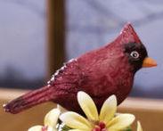 Ceramic Bird Bell Collectible Cardinal New