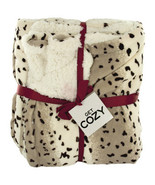 Cozy Leopard Print Fleece Throw Blanket - $42.99