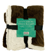 Cozy Coral Fleece & Heavy Sherpa Throw Blanket - $34.95