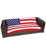 United States Flag Print Fleece Throw - $39.95