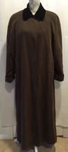 ANNE KLEIN II Women Brown Winter Rain Long Button Front Coat Jacket Size 6 - $96.59