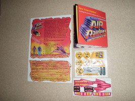 Vintage 1987 AIR RAIDERS Vehicle Information Poster 2 Decal Sticker Shee... - $28.04