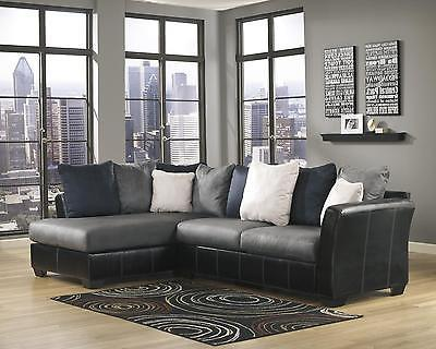 Ashley Masoli Living Room Sectional in Cobblestone Contemporary Left Facing