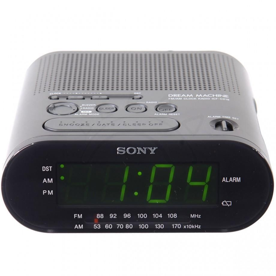 ALARM CLOCK Model ICF C218 SONY Dream Machine music AM FM radio tuner receiver