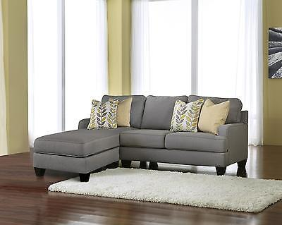 Ashley Chamberly Living Room Sectional in Alloy Left Facing Contemporary Style