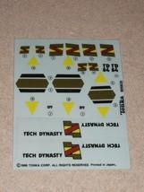1986 Legions Of Power Tech Dynasty Tonka UNUSED Stickers / Decal #805635... - $42.08
