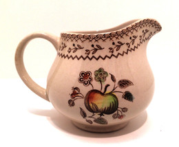 Vintage Johnson Brothers England Creamer Pitcher Apple Floral 3.75 in Ta... - $19.78