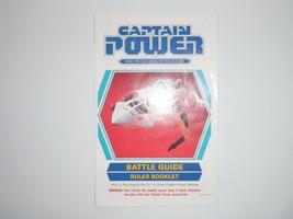 1987 Captain Power Battle Guide Rules Booklet / Poster ONLY Mattel Vintage - $28.04