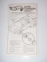 1989 Hot Wheels Super Changers Lamborghini Mattel Instructions ONLY Vintage - $23.36