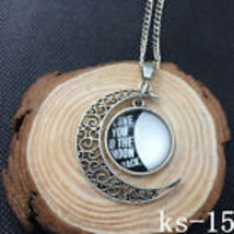 """""""Love You To The Moon And Back """" Glass Moon Pendant Necklace  Combined Shipping  - $2.50"""