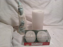 NEW X-Mas Flameless Battery Operated Candle Set