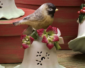 Ceramic Bird Bell Collectible Sparrow New