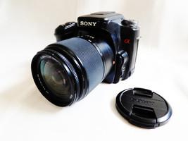 Sony Alpha DSLR-A100 10.2 MP Digital SLR Camera  Black  DT 18-70mm Macro... - $316.80