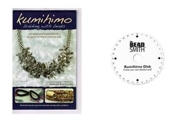 "KUMIHIMO Braiding with BEADS Instruction Booklet  + Mini Disc 4-1/2"" ~Cr... - $11.55"