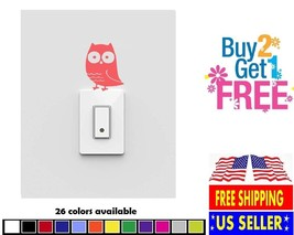 V285 - Owl Vinyl Switch Wall Decal Sticker Home Cup Car - $2.99+