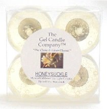 4 Pack of Honeysuckle Scented Gel Candle Mineral Oil Based Tea Lights ha... - €4,06 EUR