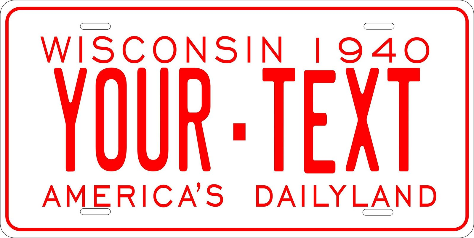Wisconsin 1940 Personalized Custom Novelty Tag Vehicle Car Auto Motorcycle Mo...