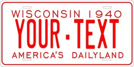 Wisconsin 1940 Personalized Custom Novelty Tag Vehicle Car Auto Motorcyc... - $16.75
