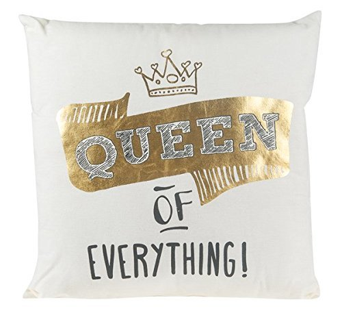Queen of Everything Pillow, Large