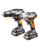 WORX WX916L 20V LI Combo Kit with Drill and Imp... - $147.50